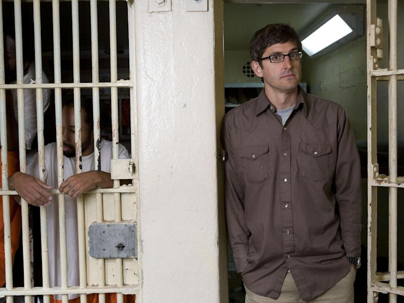 Promo shot from 'Louis Theroux: Behind Bars', first broadcast in 2008: BBC