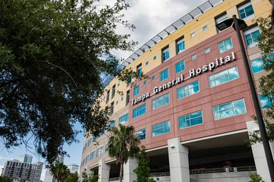 Exterior image of the Bayshore Pavilion at Tampa General Hospital, photographed on June 21, 2016.