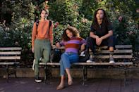 """<p>Three teenagers from vastly different backgrounds and levels on the high school social hierarchy strike up an unlikely friendship after running into each other at a shoplifters anonymous meeting.</p> <p><a href=""""https://www.netflix.com/title/80230561"""" class=""""link rapid-noclick-resp"""" rel=""""nofollow noopener"""" target=""""_blank"""" data-ylk=""""slk:Watch Trinkets on Netflix now."""">Watch <strong>Trinkets</strong> on Netflix now.</a></p>"""