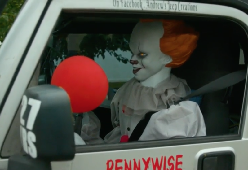 Pennywise in the driver's seat