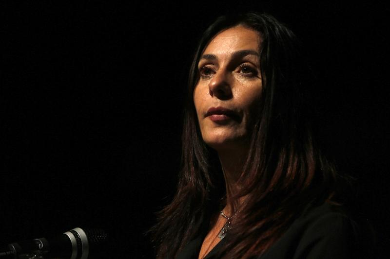 """Israeli Culture Minister Miri Regev, shown here on November 10, 2016, has welcomed the failure of her country's controversial candidate for the Oscars to win a nomination, having called the film """"Foxtrot"""" an insult to the military (AFP Photo/MENAHEM KAHANA)"""