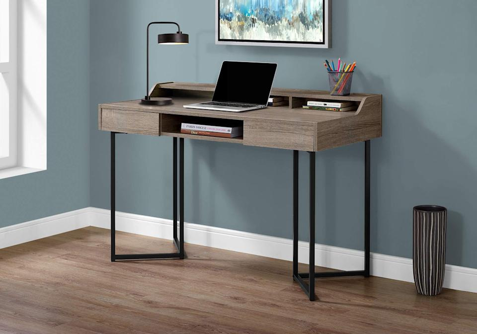 "<h2>Monarch Specialties Computer Desk</h2><br><br><strong>Monarch Specialties</strong> Monarch Specialties Computer Desk, $, available at <a href=""https://amzn.to/3iVYYRY"" rel=""nofollow noopener"" target=""_blank"" data-ylk=""slk:Amazon"" class=""link rapid-noclick-resp"">Amazon</a>"