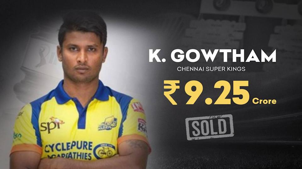 IPL 2021 Auction: K Gowtham becomes most-expensive Indian uncapped player