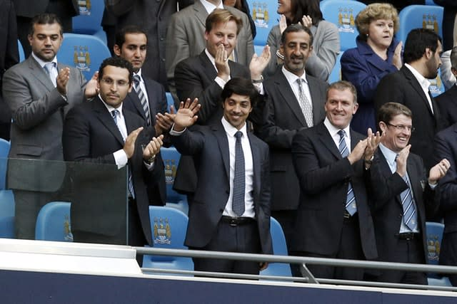 Manchester City owner Sheikh Mansour bought the club in 2008 (Peter Byrne/PA)