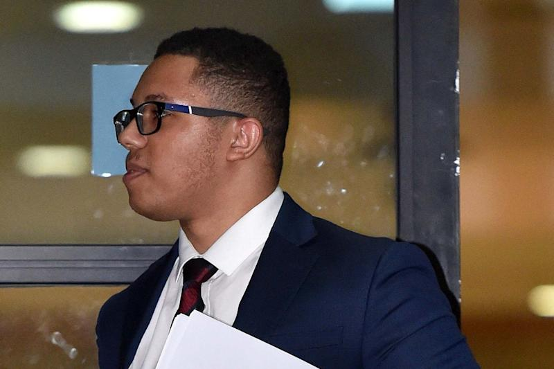 Grenadier Guard Kristopher James-Merrill, who has been found guilty of carrying out a string of armed robberies: PA