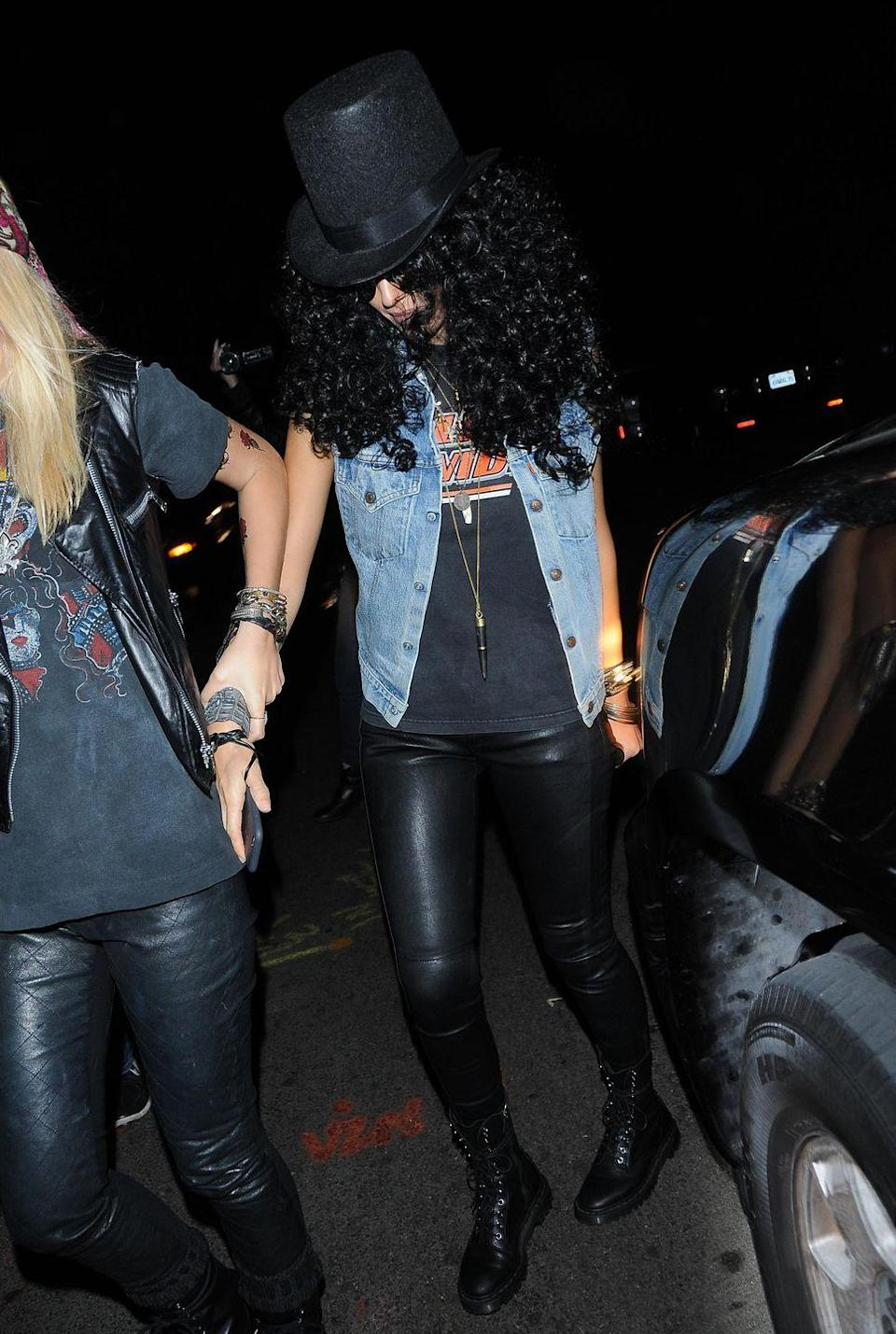 <p>Jessica Alba rocked as artist Slash at Kate Hudson's 2014 Halloween party in Los Angeles, California.</p>