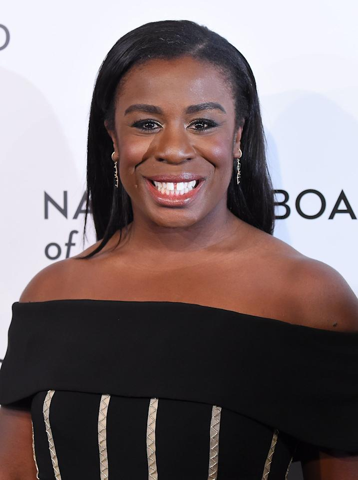 <p><strong>Orange Is the New Black</strong>'s Aduba takes on the role of Aunty Uju, Ifemulu's bold young aunt who's more like Ifemulu's older sister. Like Ifemulu, Uju left Nigeria with her son for a better life in America where she became a doctor.</p>