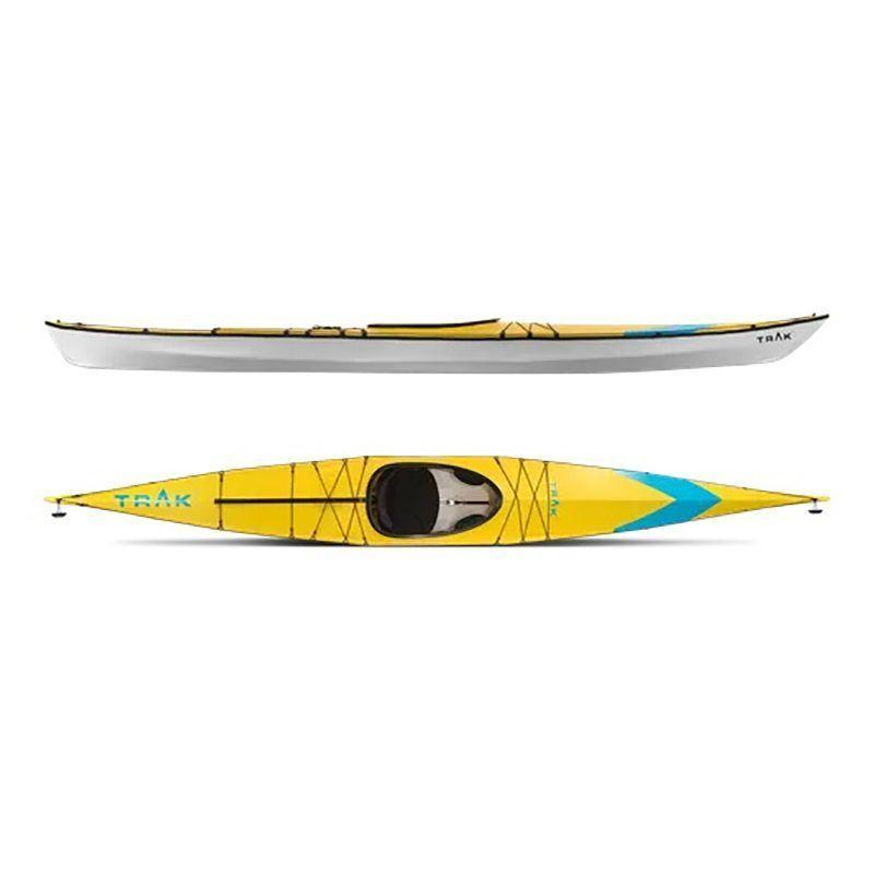 """<p><strong>Trak</strong></p><p>trakkayaks.com</p><p><strong>$3199.00</strong></p><p><a href=""""https://www.trakkayaks.com/collections/trak-2-0-kayaks/products/trak-2-0-kayak-signature-series"""" rel=""""nofollow noopener"""" target=""""_blank"""" data-ylk=""""slk:Shop Now"""" class=""""link rapid-noclick-resp"""">Shop Now</a></p><p><strong>• Length: </strong>16 ft.<br><strong>• Weight: </strong>44 lb.</p><p>You'll pay a premium for the size convenience of the Trak 2.0 foldable kayak, but it's the highest performing touring kayak that fits neatly into the back of a car. The Trak 2.0 takes roughly 15 minutes to set up once you're familiar with the process, which is a little more tedious than origami-style kayaks. To set up the ten-piece Trak 2.0, assemble its aluminum-rod frame and place the frame into the kayak's polyurethane skin. Flotation bladders tuck into the frame. Jack hydraulics change the rocker of the kayak, making it easy to adapt for varying conditions.</p>"""