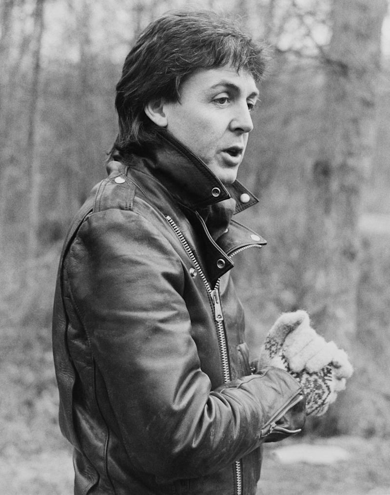 Paul Mccartney At Sussex In England On January 28th 1980.
