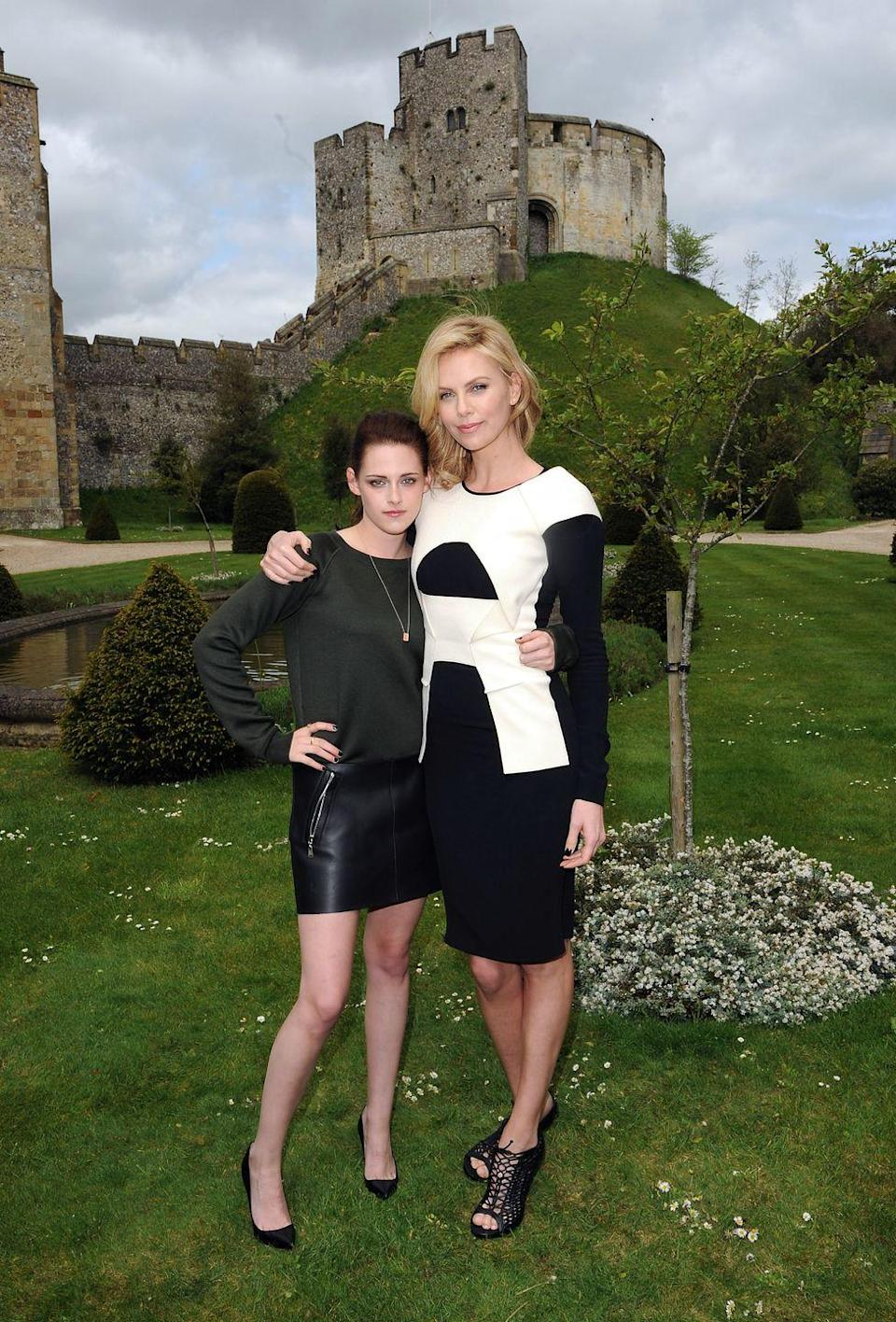 """<p>""""It happened within the first five minutes of meeting her. We were on a plane going to San Diego, for ComicCon, and I just fell in love with her."""" — Charlize Theron, <em><a href=""""https://www.celebuzz.com/2012-05-15/charlize-theron-on-falling-in-love-with-kristen-stewart-it-only-took-five-minutes-exclusive-video/"""" rel=""""nofollow noopener"""" target=""""_blank"""" data-ylk=""""slk:Celebuzz"""" class=""""link rapid-noclick-resp"""">Celebuzz</a></em></p>"""