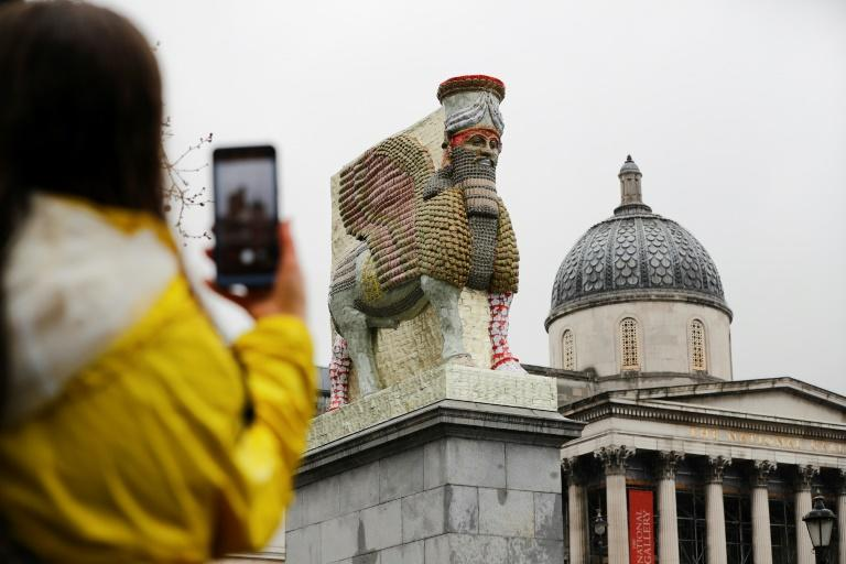 The new sculpture on Trafalgar Square will replace 'The Invisible Enemy Should Not Exist' by Iraqi-American artist Michael Rakowitz