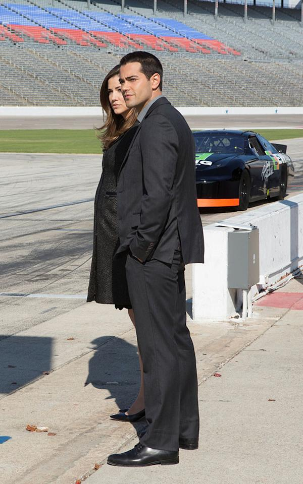 "Julie Gonzalo and Jesse Metcalfe in the ""Dallas"" Season 2 episode, ""The Furious and the Fast."""