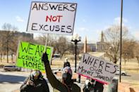 In Denver, Colorado, protestors rally over the lack of financial relief from the fallout of the Covid-19 pandemic