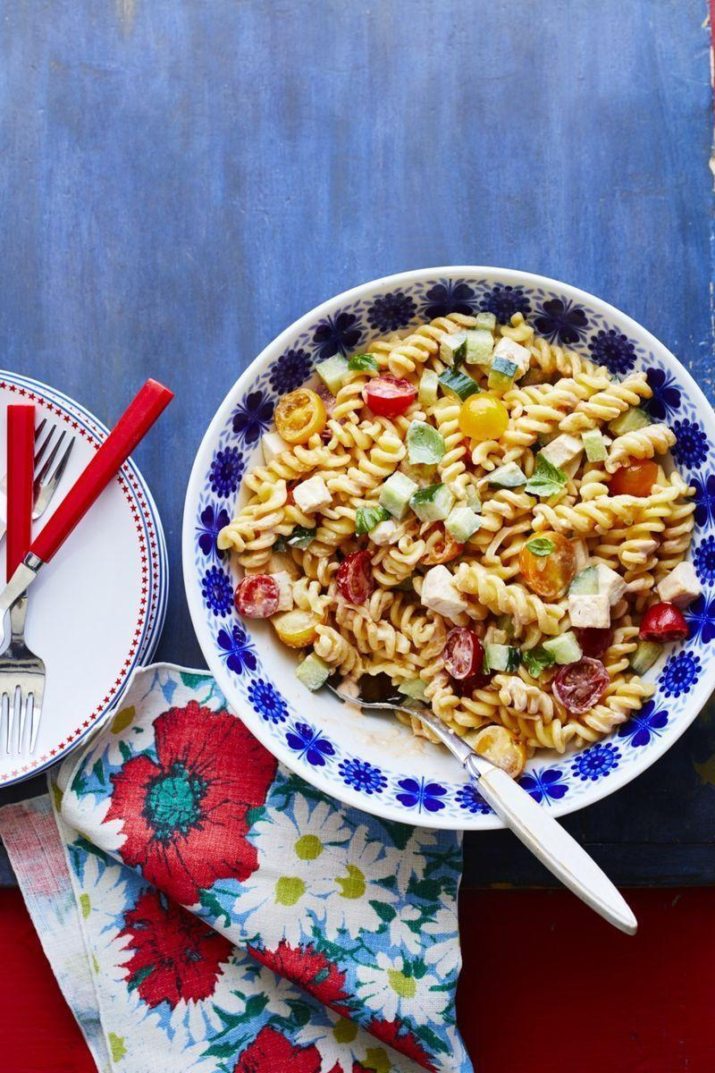 """<p>There's a reason picnics are so beloved around here: They're easy enough to throw, they allow an unlimited number of guests to join in, and they involve some of the best summer fare, like this tangy and delicious pasta salad. Keep things simple by selecting dishes that you can serve cold, as well as ones you can transport easily.</p><p><strong><a href=""""https://thepioneerwoman.com/food-cooking/recipes/a32336651/chipotle-pasta-salad-with-mozzarella-recipe/"""" rel=""""nofollow noopener"""" target=""""_blank"""" data-ylk=""""slk:Get the recipe"""" class=""""link rapid-noclick-resp"""">Get the recipe</a>.</strong></p><p><a class=""""link rapid-noclick-resp"""" href=""""https://go.redirectingat.com?id=74968X1596630&url=https%3A%2F%2Fwww.walmart.com%2Fsearch%2F%3Fquery%3Dpioneer%2Bwoman%2Bbowls&sref=https%3A%2F%2Fwww.thepioneerwoman.com%2Fjust-for-fun%2Fg36599700%2Fsummer-party-ideas%2F"""" rel=""""nofollow noopener"""" target=""""_blank"""" data-ylk=""""slk:SHOP SERVING BOWLS"""">SHOP SERVING BOWLS</a></p>"""