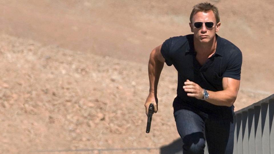 Craig injured himself while shooting 'Quantum of Solace' too (Credit: Sony)