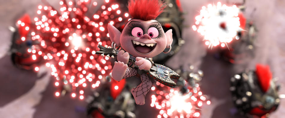 Queen Barb (Rachel Bloom) in DreamWorks Animation's Trolls World Tour, directed by Walt Dohrn. (© 2019 DreamWorks Animation LLC. All Rights Reserved.)