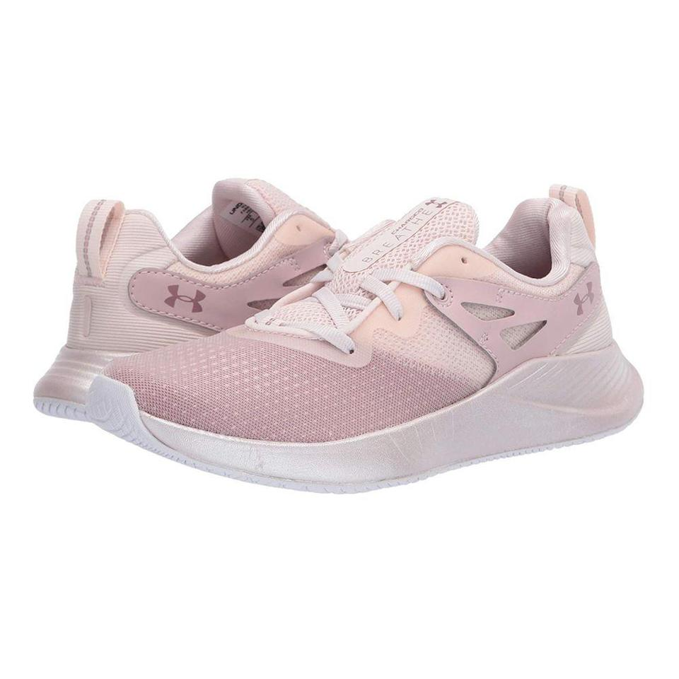 """<p><strong>Under Armour</strong></p><p>underarmour.com</p><p><strong>$80.00</strong></p><p><a href=""""https://go.redirectingat.com?id=74968X1596630&url=https%3A%2F%2Fwww.underarmour.com%2Fen-us%2Fua-w-charged-breathe-tr-2%2Fpid3022617&sref=https%3A%2F%2Fwww.prevention.com%2Ffitness%2Fworkout-clothes-gear%2Fg22749024%2Fbest-cross-training-shoes-for-women%2F"""" rel=""""nofollow noopener"""" target=""""_blank"""" data-ylk=""""slk:Shop Now"""" class=""""link rapid-noclick-resp"""">Shop Now</a></p><p>This best-selling training shoe is made of a soft, <strong>compression molded midsole that adds cushion to each step</strong> and is all about shock-absorption. You'll feel light on your feet and as sweat-free as possible with its airy knit upper design. It also has an outsole created with traction in mind, plus a solid supportive heel. </p><p>One Under Armour customer says, """"I purchased this shoe at my local Army base. It comes in a PINK under armour box. The shoes look even better in person. They are lightweight, comfortable and will make the perfect addition to your closet if you are looking for gym/trainer shoes."""" </p>"""