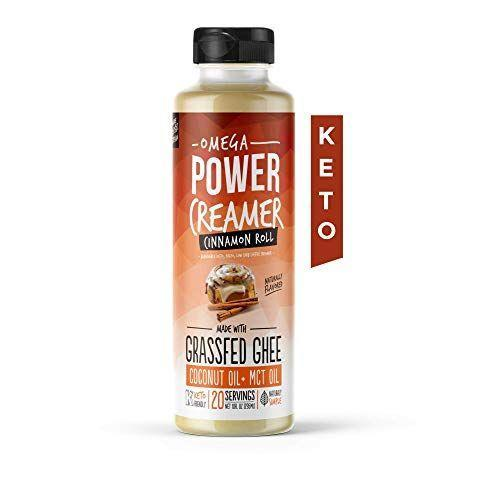 "<p><strong>PowerCreamer</strong></p><p>amazon.com</p><p><strong>$19.95</strong></p><p><a href=""https://www.amazon.com/dp/B083HRRD3T?tag=syn-yahoo-20&ascsubtag=%5Bartid%7C10063.g.34991062%5Bsrc%7Cyahoo-us"" rel=""nofollow noopener"" target=""_blank"" data-ylk=""slk:BUY NOW"" class=""link rapid-noclick-resp"">BUY NOW</a></p><p>This liquid, keto-approved creamer comes in three flavors: cinnamon, cacao, and original. All of them have 14 grams of fat and zero added sugars per serving.</p>"