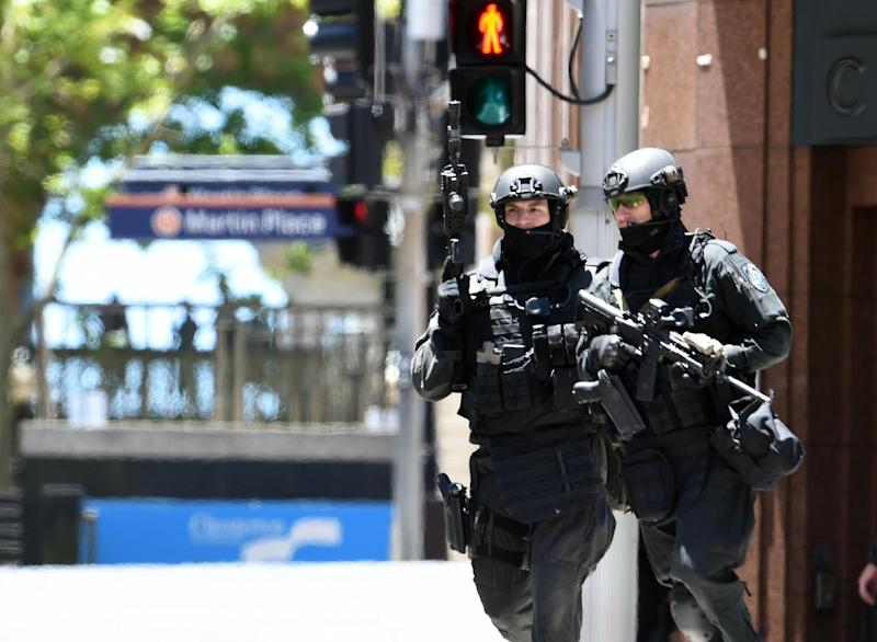 """Australia has warned of heightened threats from """"home-grown"""" extremists and in 2014 police commandos were called after a jihadist gunman took 17 people hostage in Sydney (AFP Photo/Saeed Khan)"""