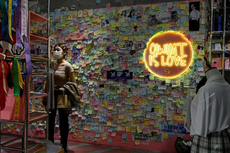 Fans power China's lucrative idol economy, boosting stars on social media and buying merchandise that they promote at shops like this (AFP/Jade GAO)