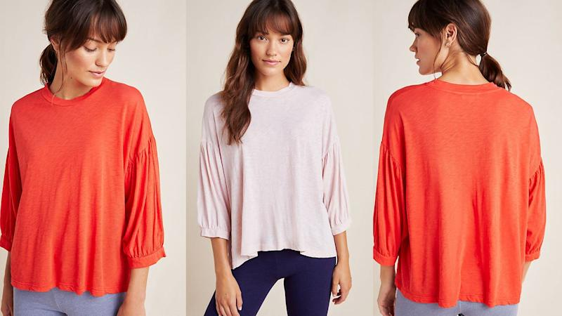 This brightly colored top will be perfect in the spring.