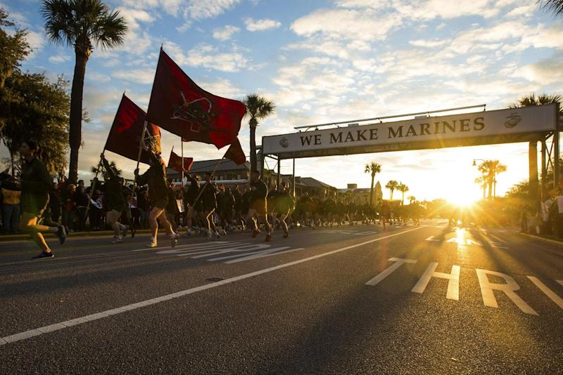 Marines Weigh Closing Parris Island and San Diego to Open New Coed Boot Camp