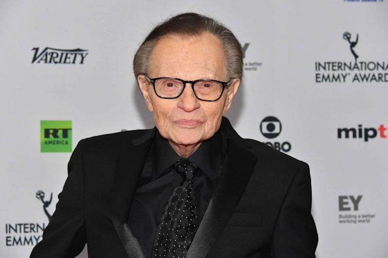 Larry King (pictured here last week) took Twitter to express his sadness of the news of David's death. Source: Getty