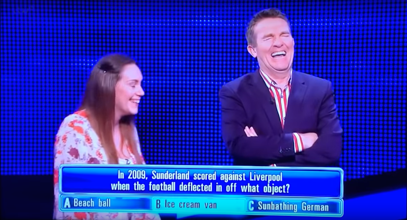 Bradley Walsh was in hysterics (Photo: ITV/Gala Bingo)