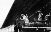 <p>When Italian marathoner, Dorando Pietri, was disqualified after receiving aide for dehydration, he won over the crowd's sympathy. Though he wasn't eligible for a medal, he was awarded a silver cup by Queen Alexandra for his efforts. </p>