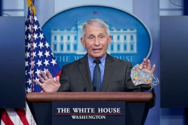 Dr. Anthony Fauci, director of the National Institute of Allergy and Infectious Diseases, speaks during a press briefing at the White House, Tuesday, April 13, 2021, in Washington. (AP - image credit)