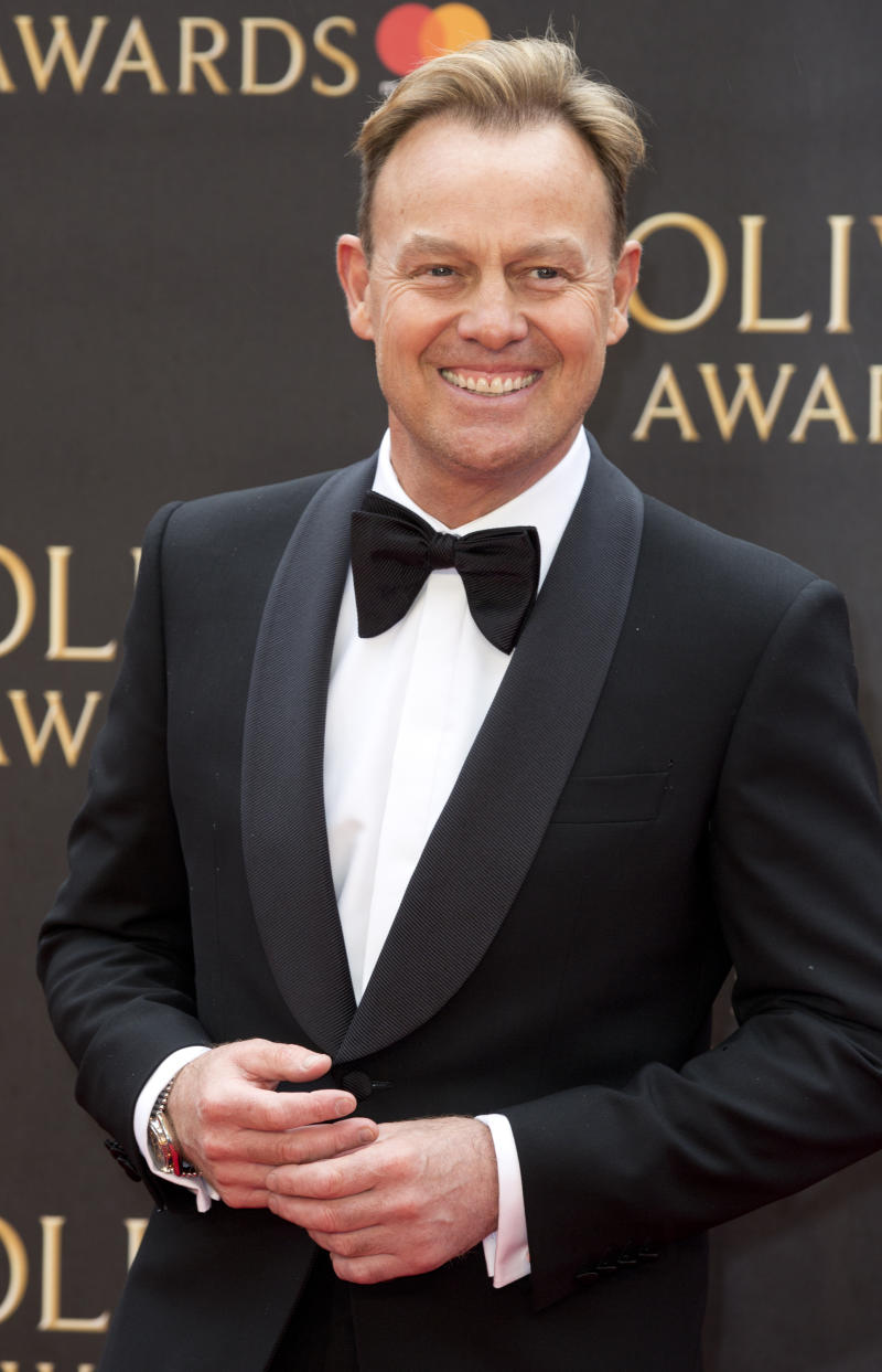 Jason Donovan arriving for The Olivier Awards at the Royal Albert Hall in London.