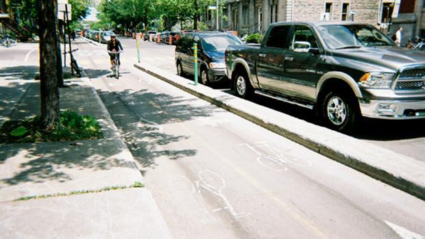 The city hopes that separated bike lanes, like this one in Montreal, will help cyclists feel safer when riding downtown.