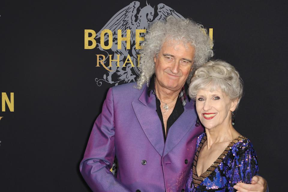 Brian May, Anita Dobson during the Bohemian Rhapsody special New York Screening, held at the Paris Theatre in New York City, Tuesday, October 30, 2018. (Photo by Elise Leclerc/Sipa USA)