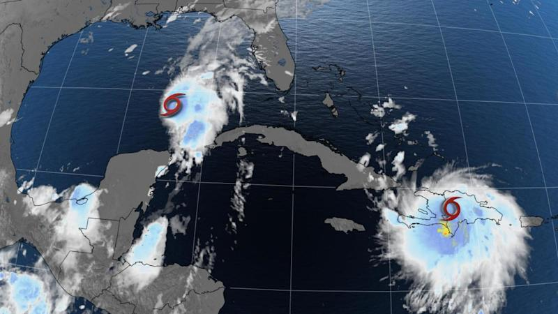 Tropical storms Laura and Marco set for U.S. landfall next week