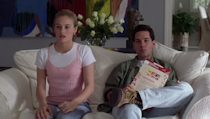 <p>While Alicia Silverstone made a splash in a number of different <em>Clueless </em>outfits, it was her and Paul Rudd's matching light wash jeans that caught our eye. </p>