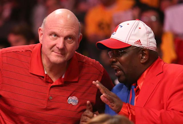 Clipper Darrell has some ideas he'd like to share with Steve Ballmer. (Getty)