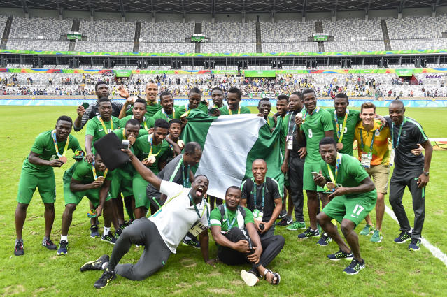 <p>The Nigerian soccer team arrived in Brazil hours before its match against Japan and still won 5-4. And here we are making excuses as to why we can't make it to the gym. (Photo by Pedro Vilela/Getty Images) </p>