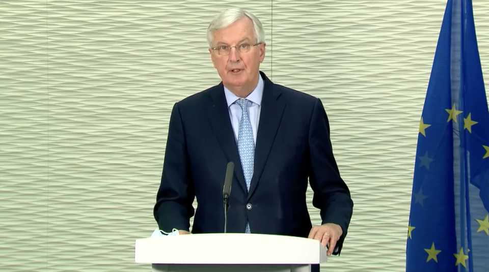 Michel Barnier has said a 'future relationship' Brexit deal with the UK is 'unlikely'. (European Commission)