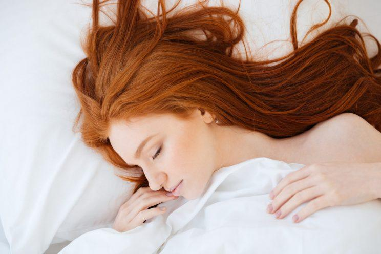 Here's why you should always dry your hair before bed [Photo: Getty]