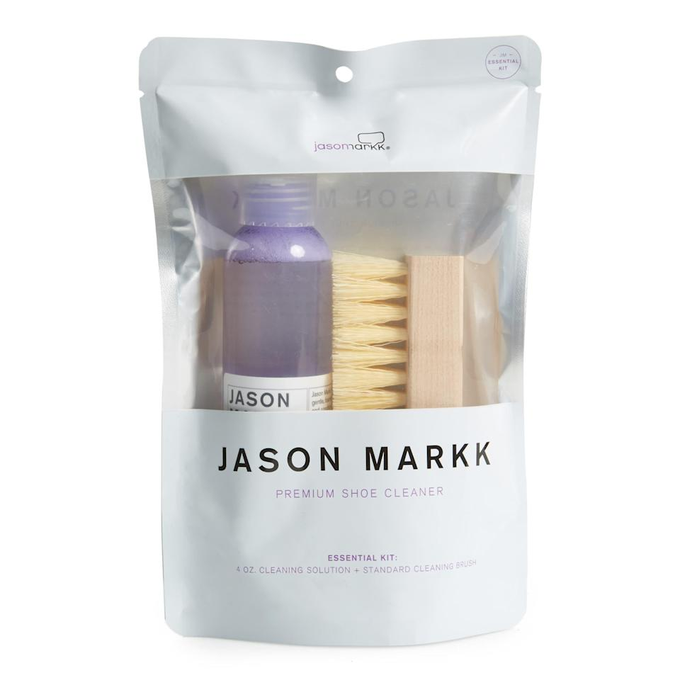 "Throw in a shoe-care kit to keep his sneakers squeaky clean. $16, Nordstrom. <a href=""https://www.nordstrom.com/s/jason-markk-essential-shoe-cleaning-kit/3727266"" rel=""nofollow noopener"" target=""_blank"" data-ylk=""slk:Get it now!"" class=""link rapid-noclick-resp"">Get it now!</a>"
