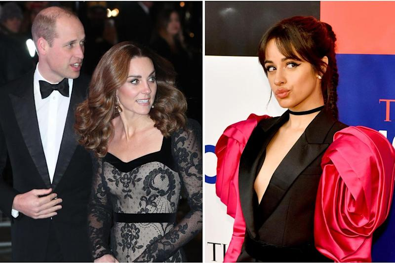 William and Kate have responded to Camila Cabello's pencil theft admission: Reuters/Getty