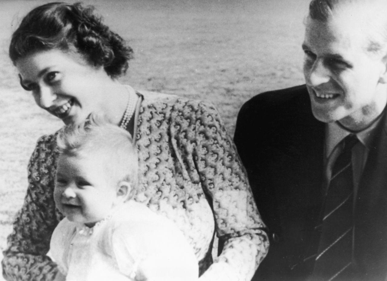 Here's Prince Charles with his parents Queen Elizabeth and Prince Philip. [Photo: Getty]