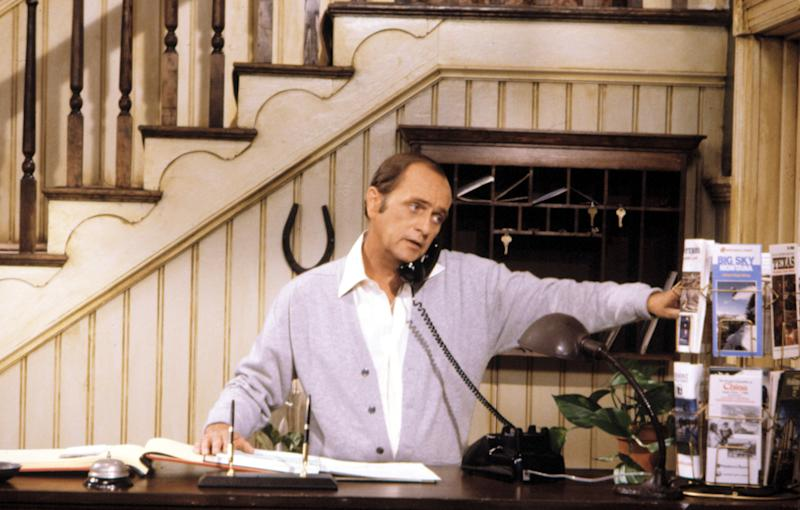 Bob Newhart in the CBS sitcom 'Newhart.' The series aired its final episode 30 years ago in 1990. (Photo: CBS / Courtesy: Everett Collection)