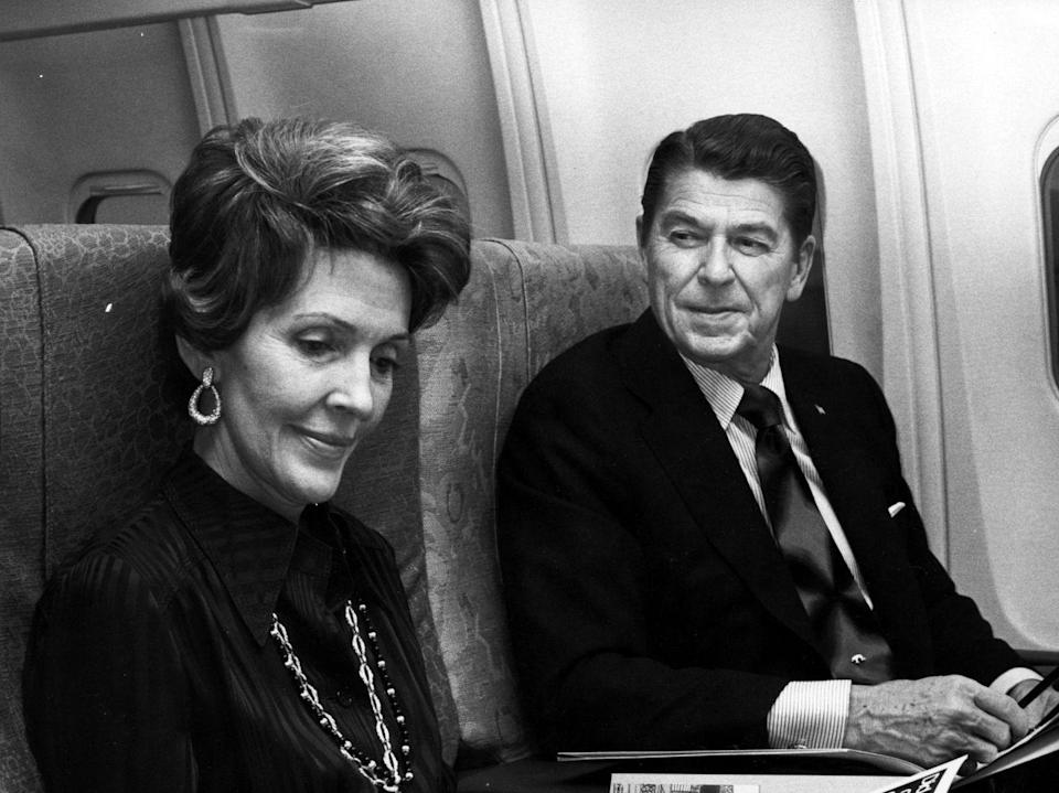 <p>Ronald and Nancy Reagan en route to an American Film Institute event in 1974. </p>