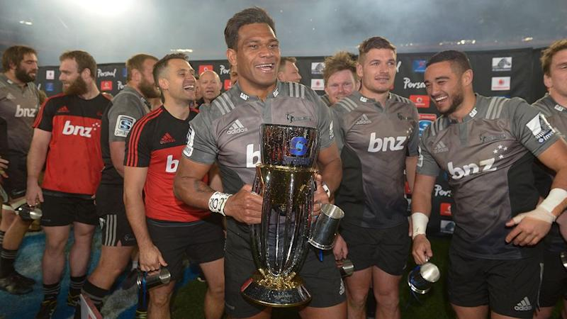 The Crusaders celebrated in Johannesburg. Pic: Getty