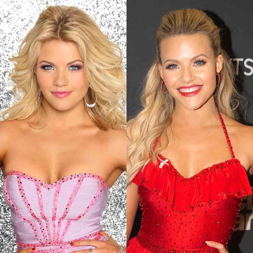 """<p>Witney has competed in 11 consecutive seasons of <em>DWTS</em>, with her first being season 18 in 2014. In her second season on the show, Witney and partner Alfonso Ribeiro took home the Mirror Ball Trophy (and the BFFs currently host a show together on Game Show Network!). </p><p><strong>RELATED:</strong> <a href=""""https://www.goodhousekeeping.com/life/entertainment/g34005508/game-show-hosts-then-and-now/"""" rel=""""nofollow noopener"""" target=""""_blank"""" data-ylk=""""slk:The 28 Most Popular Game Show Hosts, Then and Now"""" class=""""link rapid-noclick-resp"""">The 28 Most Popular Game Show Hosts, Then and Now</a></p>"""