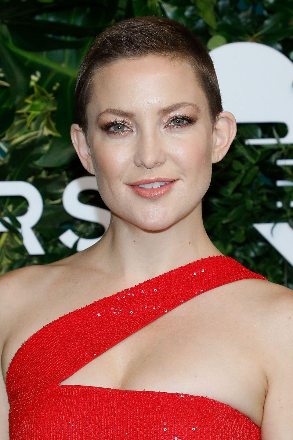 """<p>""""I didn't think I'd love it so much,"""" Kate Hudson told us in 2017, speaking on her newly shaved head. """"The connection to (my hair) was powerful and I wasn't prepared for that. It's so liberating.""""</p>"""