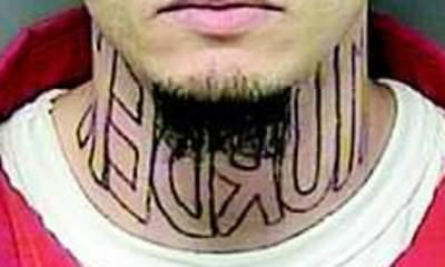 Suspect Asks Court To Remove 'Murder' Tattoo