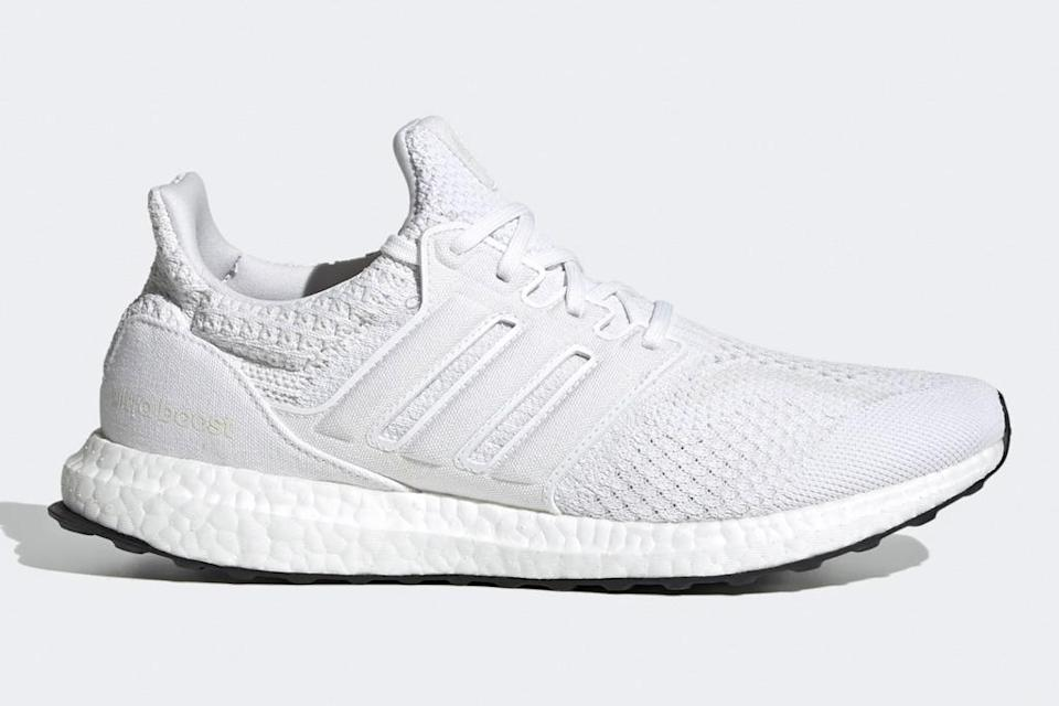 sneakers, running shoes, white, adidas