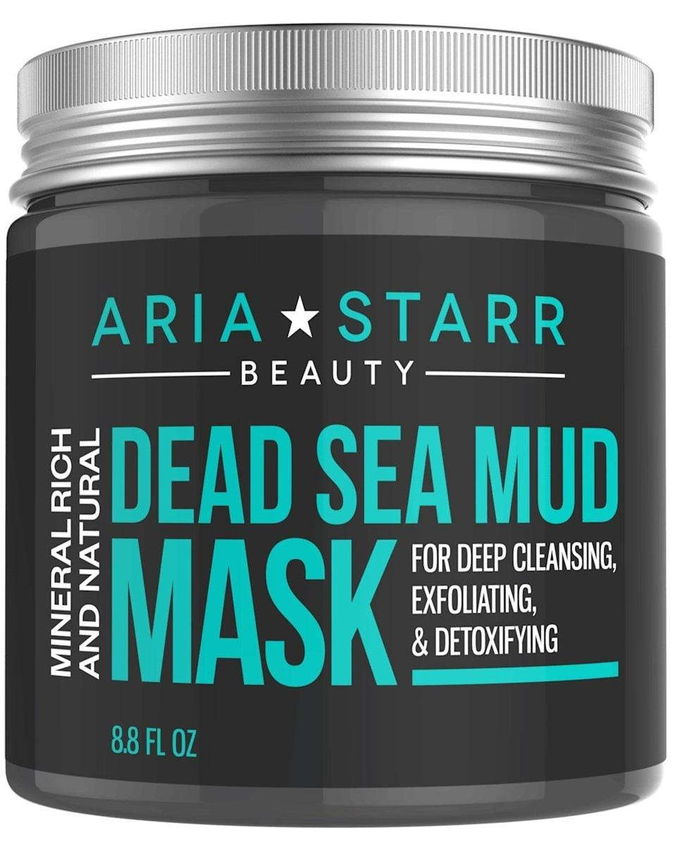 <p>With more than 2,500 reviews, this <span>Aria Starr Beauty Natural Dead Sea Mud Mask</span> ($19) has won people over with its acne-fighting mud formula. It absorbs oil, exfoliates away dead cells, and leaves skin totally refreshed with ingredients like shea butter, aloe vera, and jojoba oil.</p>